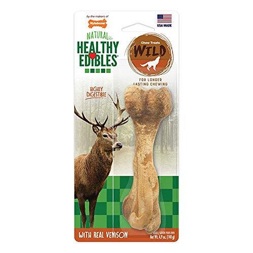 Nylabone NEV203P Healthy Edibles Wild Venison Dog Treats | All Natural Grain Fre