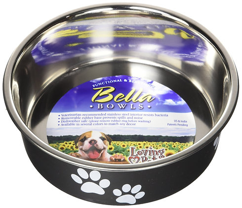 Loving Pets Bella Bowl for Dogs, Small, Espresso (7404)