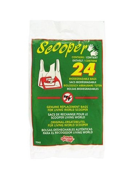 70542 Living World Scooper Replacement Bags, 24-Pack