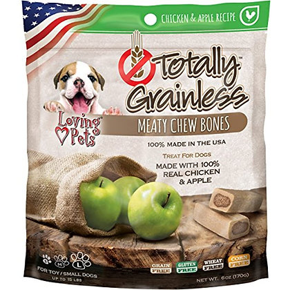 Loving Pets Totally Grainless Chicken And Apple Recipe Meaty Chew Bones For Smal