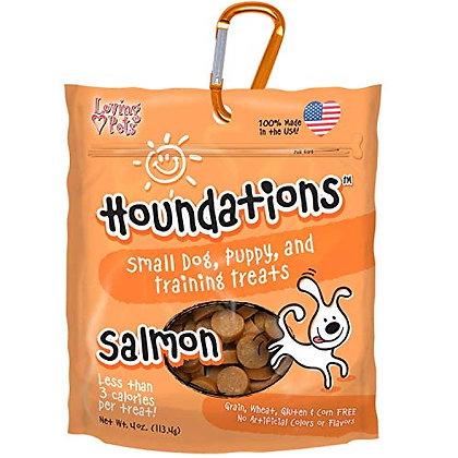 Loving Pets Houndations Salmon Training Treats Salmon Dog Treat, 4 Oz/One Size