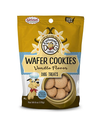Exclusively Dog Pet Wafer Cookies-Vanilla Flavor, 6-Ounce Package, Model Number: