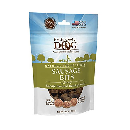 Exclusively Pet Sausage Bits Flavored Training Treats, 7 Oz (43004)