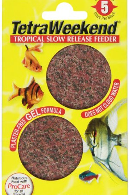 Tetra 77151 TetraWeekend Tropical Slow-Release 5-Day Feeder, 2-Pack