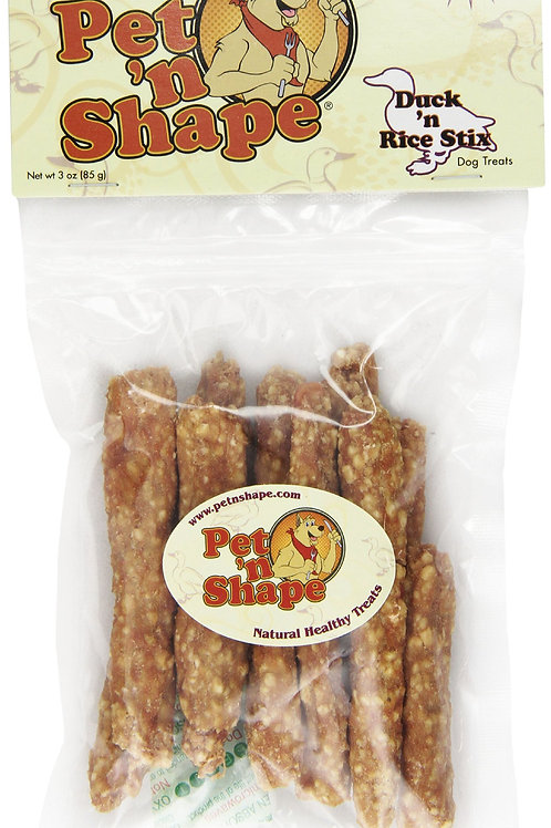 Pet 'n Shape Duck 'N Rice Stix - All Natural Dog Treats, Stix, 3 Oz