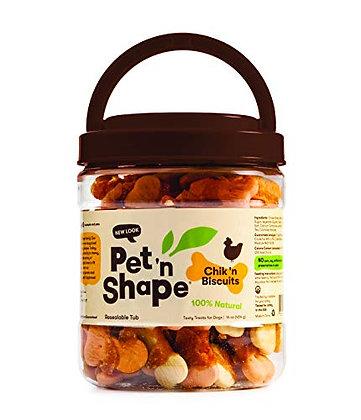 Pet 'n Shape Chik 'n Biscuits - All Natural Dog Treats, 1 Lb