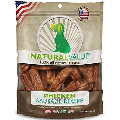 Loving Pets Natural Value All Natural Soft Chew Chicken Sausages For Dogs, 13-Ou