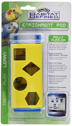 Kaytee Avian Habitat Defined Enrichment Pod, Polly Puzzler
