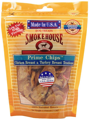 Smokehouse Pet Products 85458 Chicken Turk Chips Treat For Dogs, 4-Ounce