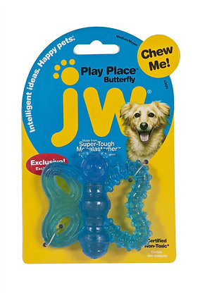 JW Playplace Butterfly Teether, Multicolor