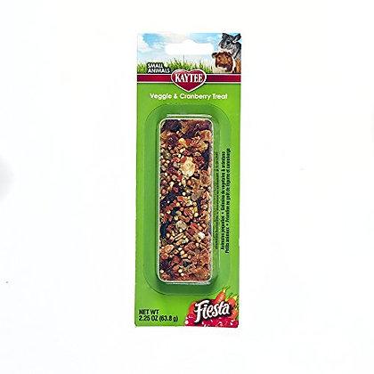 Kaytee Fiesta Veggie Cranberry Treat Stick for Small Animals, 2.25-oz