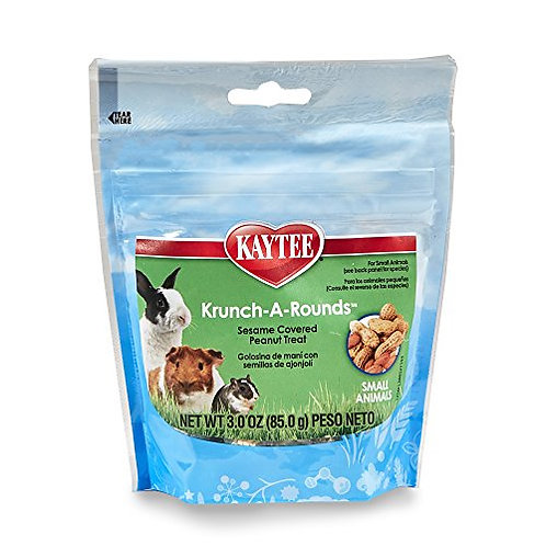 Kaytee Krunch-A-Rounds With Peanut Center Treat For Small Animals