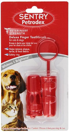 Petrodex Deluxe Finger Toothbrush for Dogs and Cats, 2 count