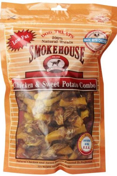 Smokehouse 100-Percent Natural Chicken And Sweet Potato Combo Dog Treats, 16-Oun