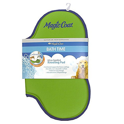 Four Paws Magic Coat Bone Shaped Dog Bath Kneeling Pad, Green