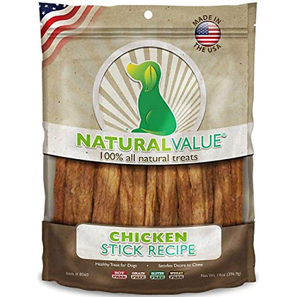 Loving Pets Natural Value All Natural Soft Chew Chicken Sticks For Dogs, 14-Ounc