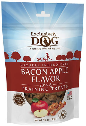 Exclusively Dog Training Treats, Bacon Apple Flavor