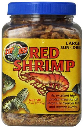 Zoo Med Sun Dried Large Red Shrimp, 2-1/2-Ounce