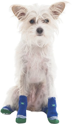 Fashion Pet Snazzy Socks for Pets, Large, Blue Argyle