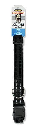 "Aspen Pet Products Reflective Adjustable Collar Pad, 26"", Black"
