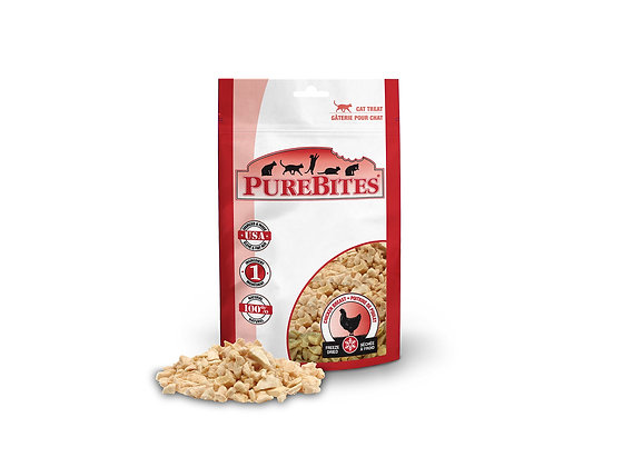 PureBites Chicken Breast for Cats, 0.60oz / 17g - Entry Size
