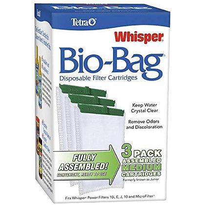 Tetra Whisper Bio-Bag Disposable Filter Cartridges 3 Count, For aquariums, Mediu