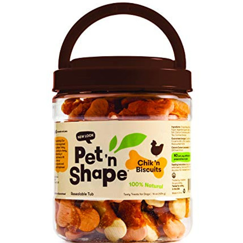 Pet 'n Shape Chik 'N Biscuits - All Natural Dog Treats, 1 Lb