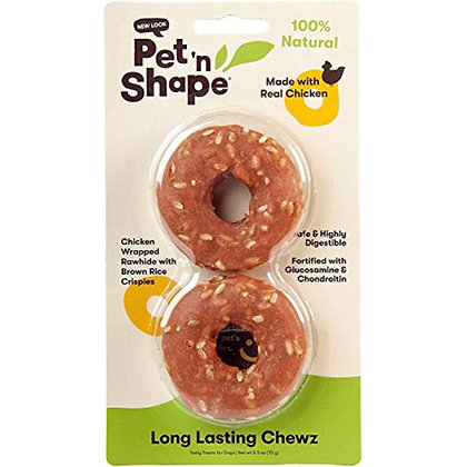 Pet 'n Shape Long Lasting Chicken Chewz - Chicken Wrapped Rawhide - All Natural