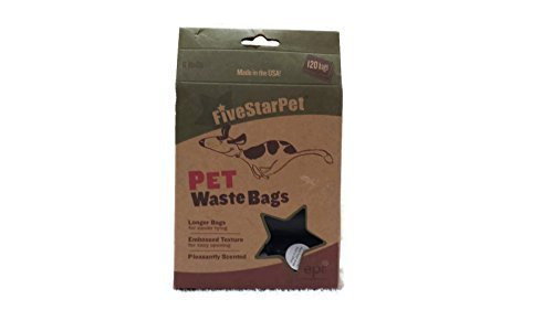 Five Star Pet Waste Bags 8 Rolls 120 Bags Total