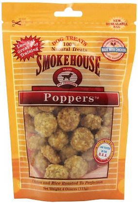 Smokehouse Pet Products 25091 Chick Popper Treat For Dogs, 4-Ounce