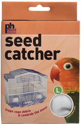 """Prevue Pet Products Mesh Bird Seed Catcher 13"""" H, Large Size"""