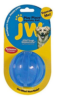 JW Playplace Squeaky Ball, Medium, Multicolor