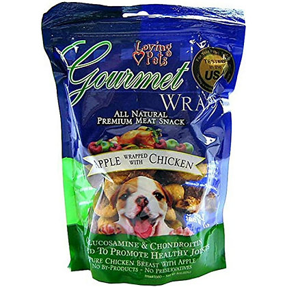 Loving Pets Gourmet Wraps Apple Wrapped with Chicken 6oz