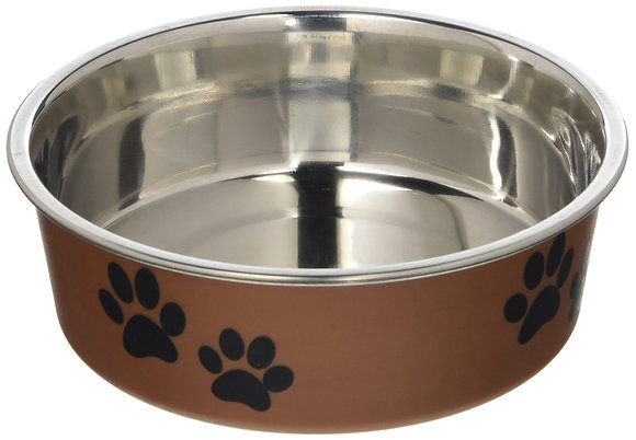 Loving Pets Metallic Bella Bowl, Small, Copper