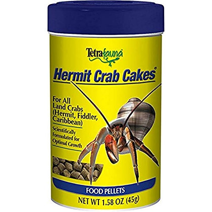 TetraFauna Hermit Crab Cakes 1.58 Ounces, Food Pellets For All Land Crabs, 100ml