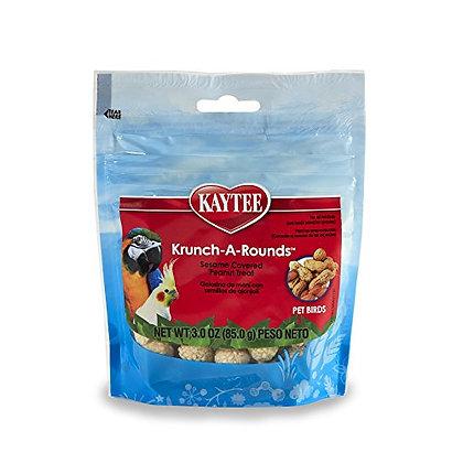 Kaytee Fiesta Krunch-A-Rounds Peanut For All Hookbills, 3-Oz Bag