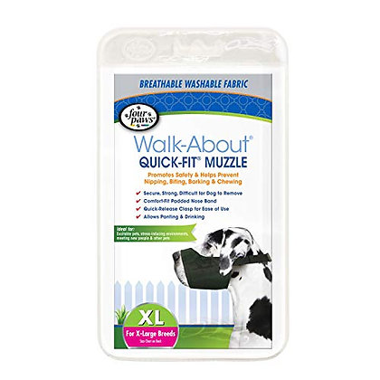 Four Paws Quick Fit Dog Muzzle 5-XL