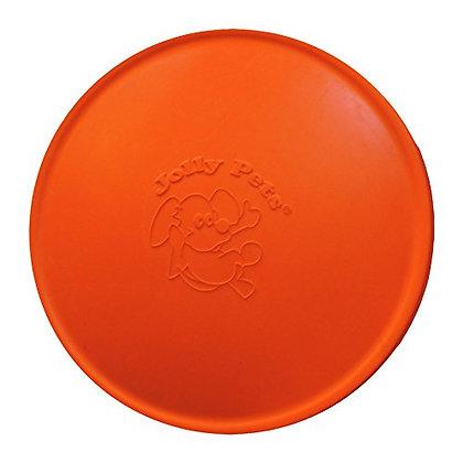 Jolly Pets Flexible, Floating Flyer Dog Toy, Medium/7.5-Inch, Orange