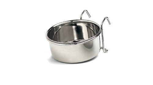 Ethical Pet Stainless Steel Coop Cup, Perfect Bowls for Cages and crates 20-Ounc
