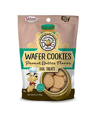 Exclusively Pet Wafer Cookies-Peanut Butter Flavor, 6 oz Package