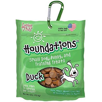 Loving Pets Houndations Duck Training Treats Dog Treat, 4 Oz/One Size