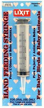 Lixit Hand Feeding Syringes for Baby Animals (35ML)
