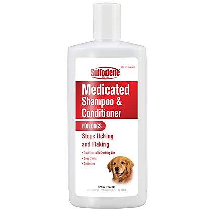 Sulfodene Medicated Shampoo with Aloe, 12-Ounce