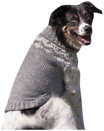 Fashion Pet Soft Fair Isle Dog Sweater, X-Small, Grey