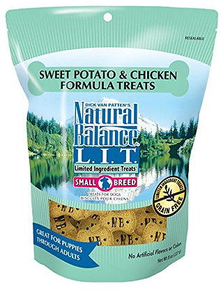 Natural Balance L.I.D. Limited Ingredient Diets Small Breed Dog Treats, Sweet Po