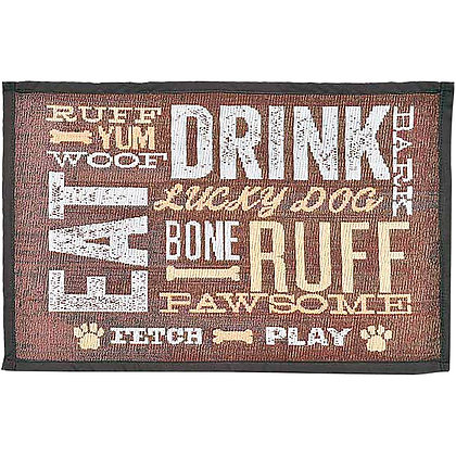 Loving Pets Bella Fashion Mat for Dogs, Dog Day Expressions