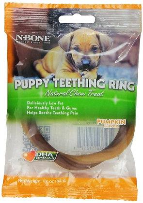 N-Bone Puppy Teething Ring, Pumpkin Flavor, Single