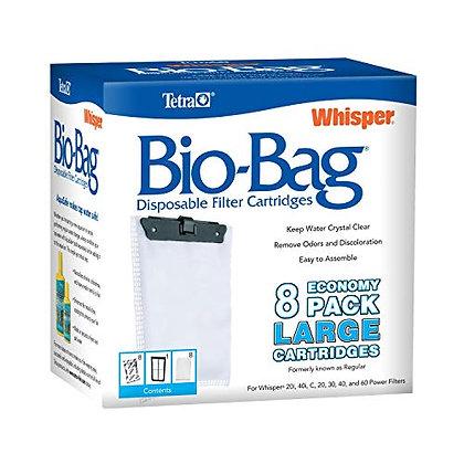Tetra Whisper Bio-Bag Disposable Filter Cartridges 8 Count, For aquariums, Large