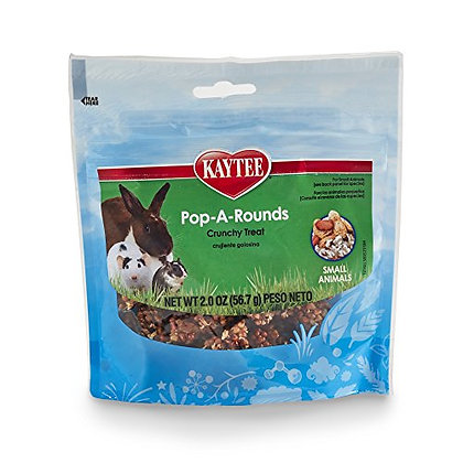 Kaytee Pop-A-Rounds Treat For Small Animals, 2 Oz.