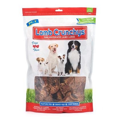 PCI Pet Center Inc. Lamb Crunchys Raw Dehydrated Lamb Lungs Dog Treats, 16 Ounce